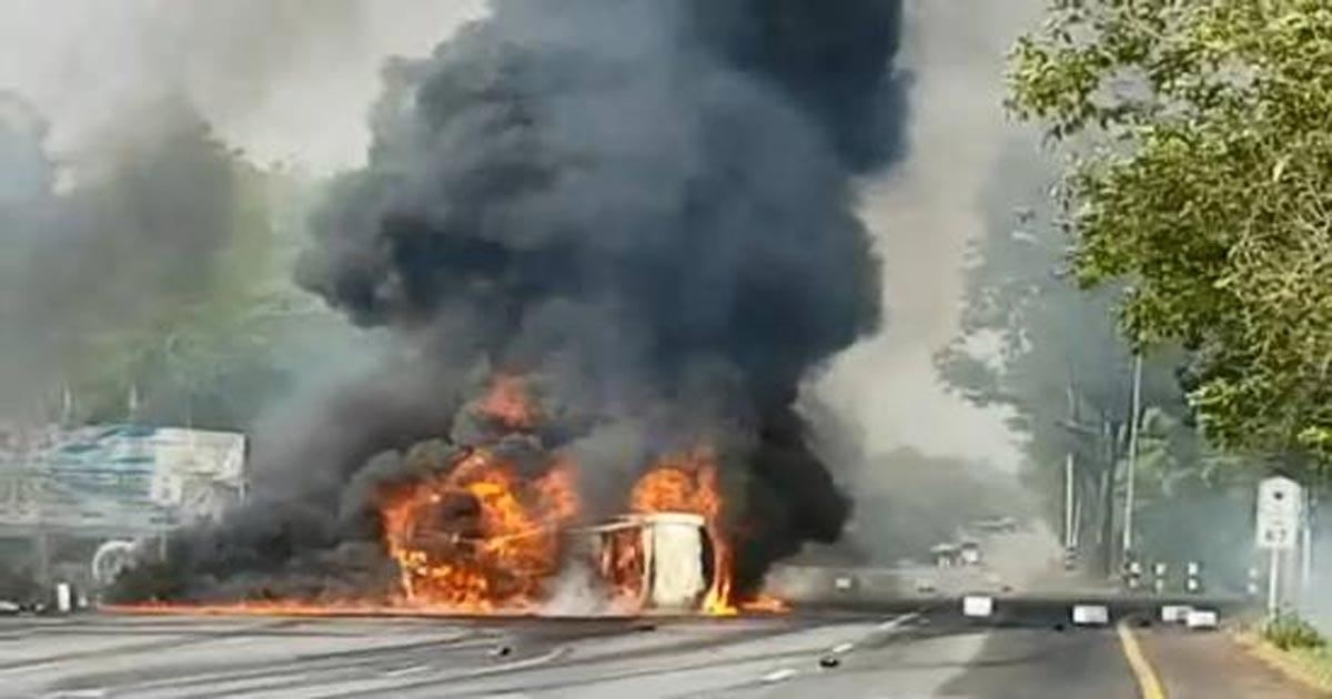 ไฟไหม้รถ